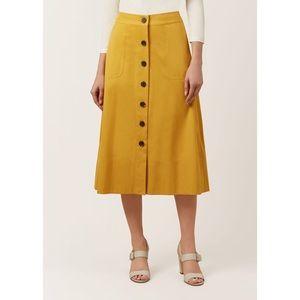 Hobbs Celina Skirt in Golden Yellow